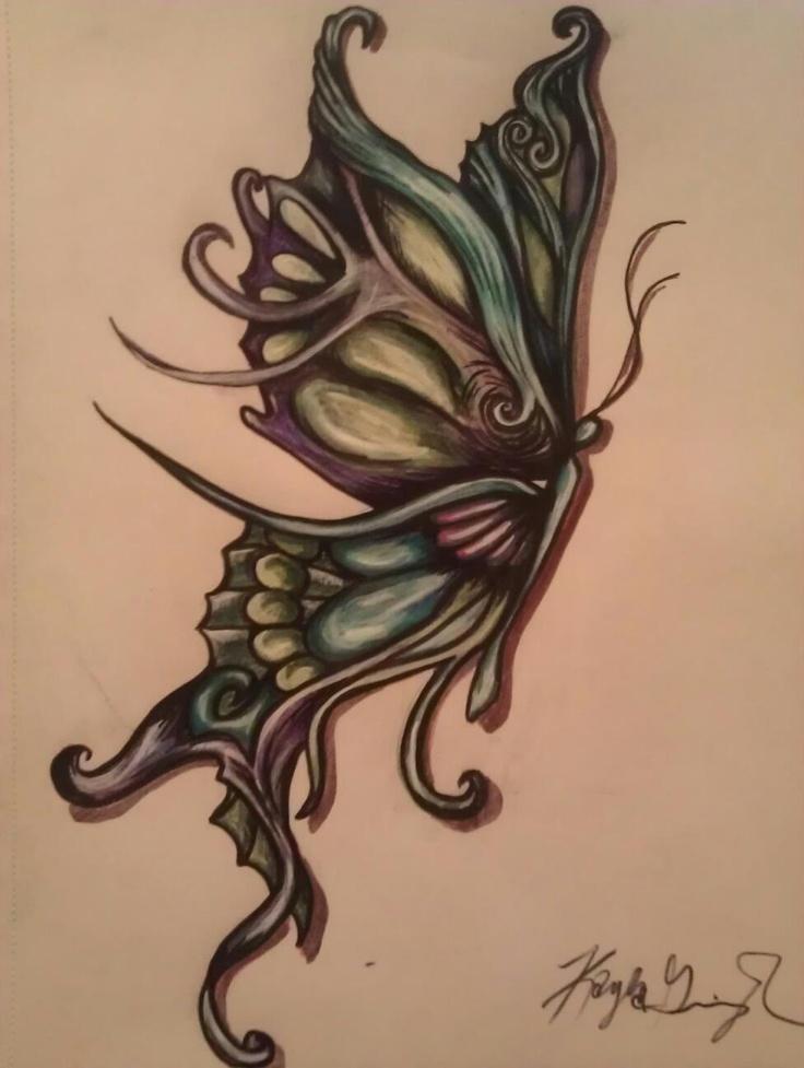 butterfly Butterfly sketch, Tribal tattoos, Tattoos