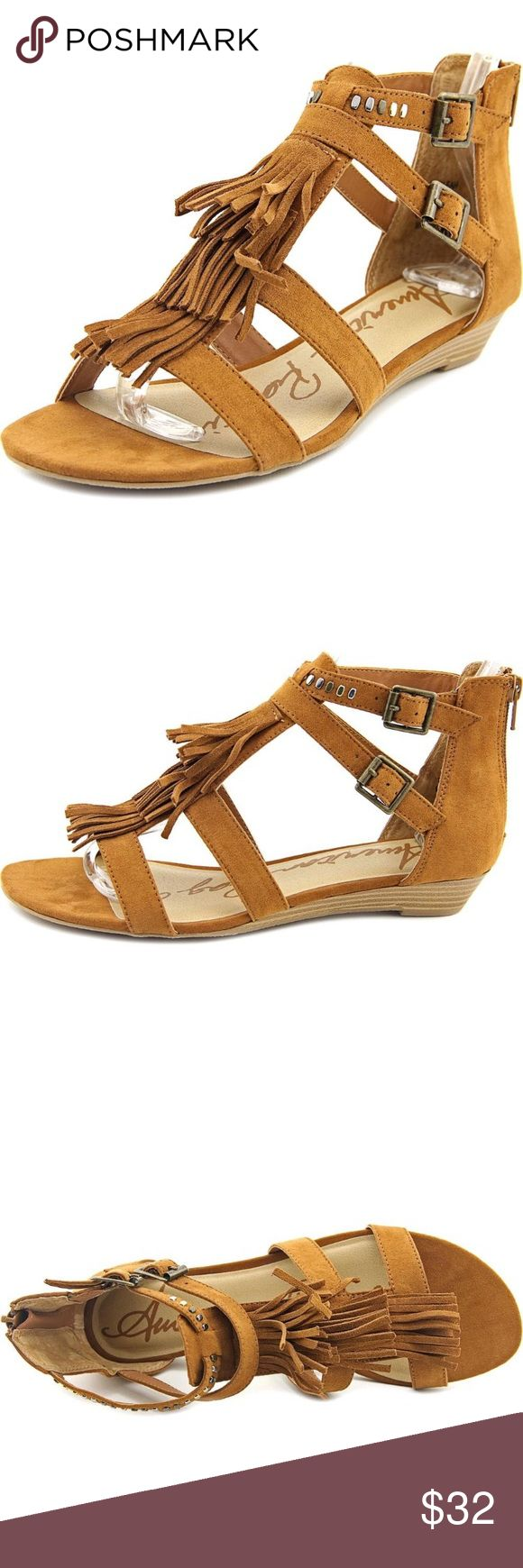 American Rag Leah Women Brown Gladiator Sandal American Rag Women's Leah Open Toe Casual Wedge Gladiator Sandals. 💕 (wow! That's a mouth full!) 💋  ✨Size: 8 Color: Chestnut-Faux Suede Gently used & very comfortable!   Thanks for stopping by! 💜✌🏼 American Rag Shoes Sandals