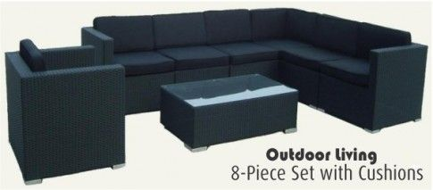 8 Piece Outdoor Furniture Set, PLUS Cushions
