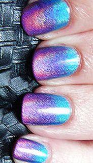 Gradient holo nails: Nail Polish, Gradient Nails, Fingernail, Beauty, Sparkle, Nail Design, Nail Art