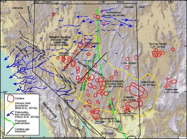 Image Result For Map Volcanism Of Basin And Range Province Nevada Nevada Usa Map