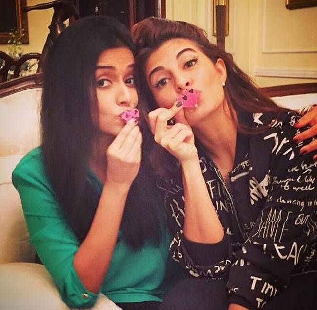 Jacqueline Fernandez and Asin on #Instagram. #Bollywood #Fashion #Style #Beauty #Hot