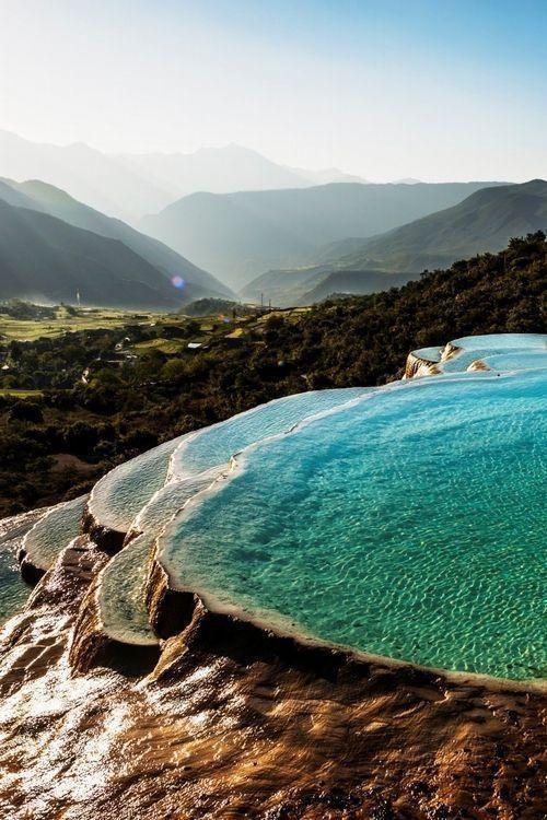 Amazing natural pools. Turkey.