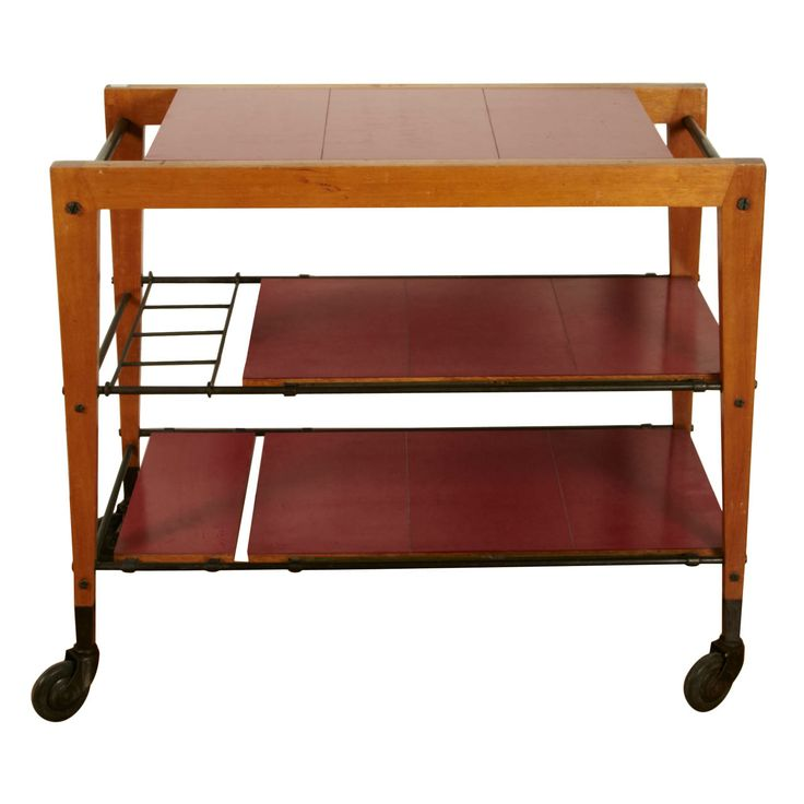 1950's Trolley Table by Maxime Old | From a unique collection of antique and modern bar carts at http://www.1stdibs.com/furniture/tables/bar-carts/