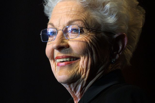 Ann Richards. Democratic Governor of Texas in the early 90s. Outspoken feminist who entered politics in her 50s after having been a stay-at-home mom and community leader for many years. Who I want to be when I grow up.