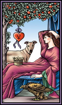 The Empress from The Tarot of the Sevenfold Mystery by Robert M. Place
