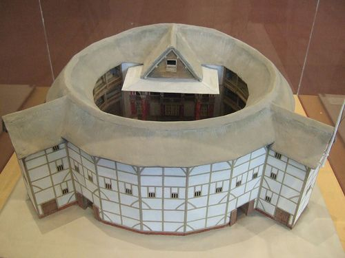 Model of Shakespeare's Globe Theatre by Ben Sutherland, via Flickr