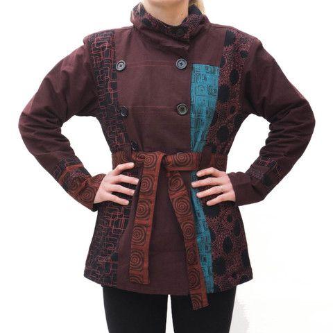 Brown & Blue Womens Jacket