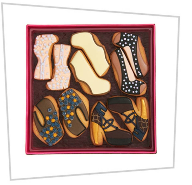 Gaga's Shoe cookies @Sarah Chintomby Chintomby Barney New York www.gagasworkshop.com