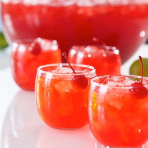 EQUAL PARTS of the following and pour over ice…  Bicardi Gold Rum Malibu Coconut Rum Orange Juice Cranberry Juice Pineapple Juice If you dec...