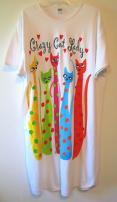 Womens Kitty Cat Nightshirt Sleepshirt Nightgown Sleepwear One Size by Relevant - BUY NOW ONLY 26.1