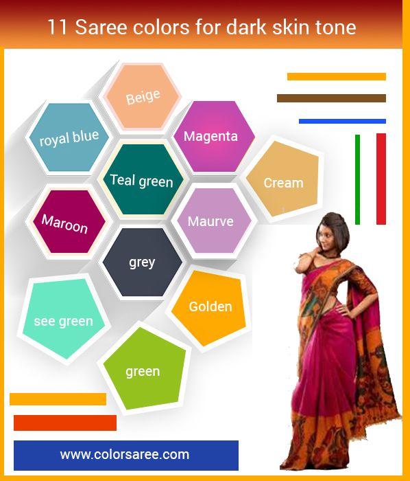 11 Saree Colors For Dark Skin Tone Fair Skin Tone Borwn And