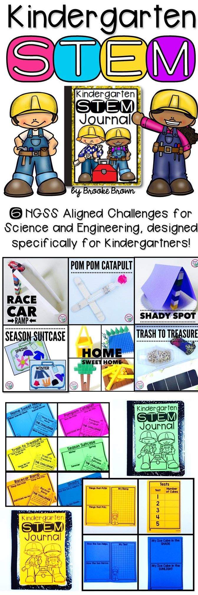 6 NGSS Aligned STEM Challenges designed specifically for Kinders! Covers…