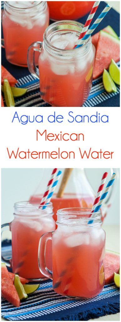 Agua de Sandia (Mexican Watermelon Water)  #july4 #july4th #aguafresca #agua #sandia #watermelon #water #beverage #drink #mexican #mexico #summer