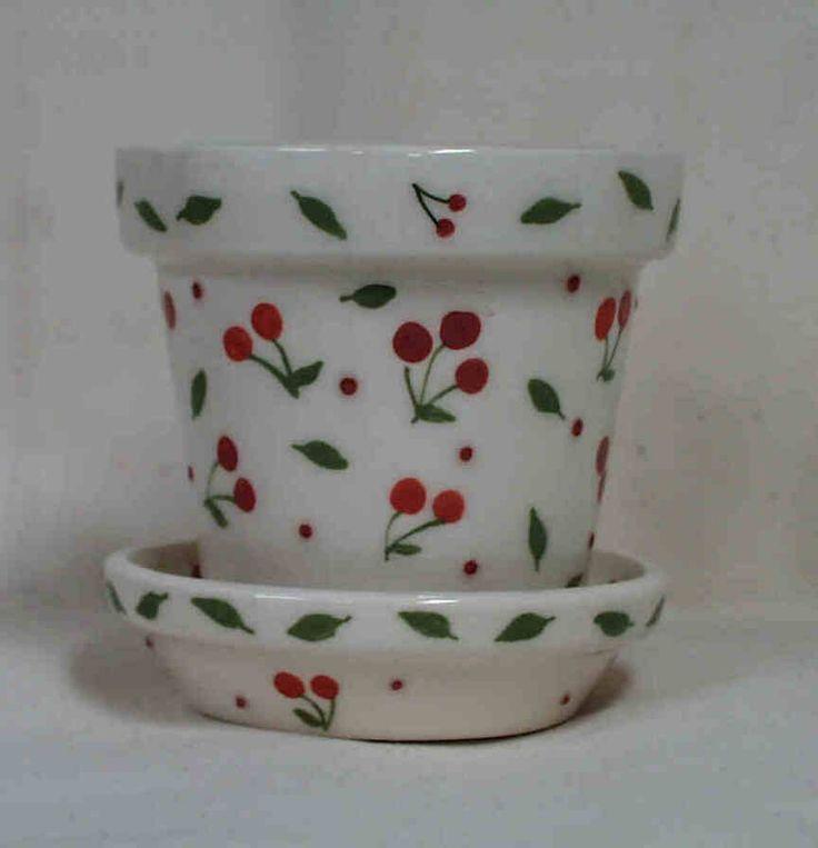 Cherries Flower Pot