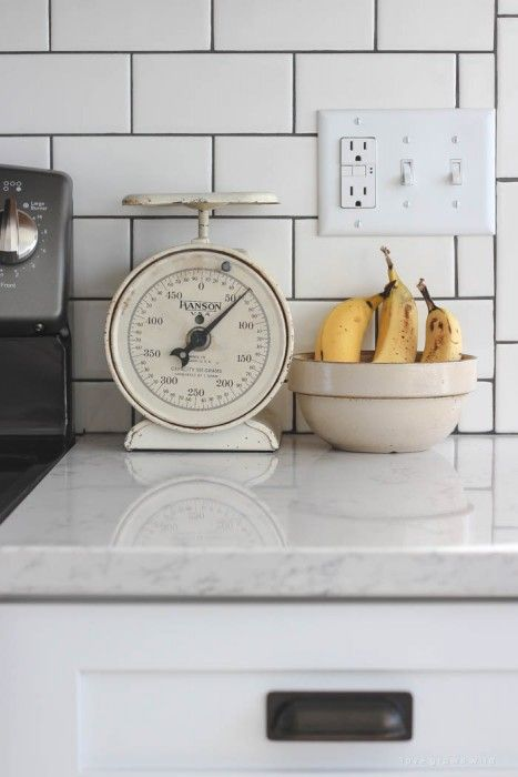 Follow along the makeover of this beautiful farmhouse kitchen! In this post, Liz shares the backsplash she chose and why. Click for more photos and details!