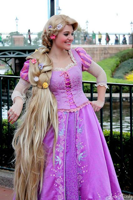 Rapunzel wig and costume