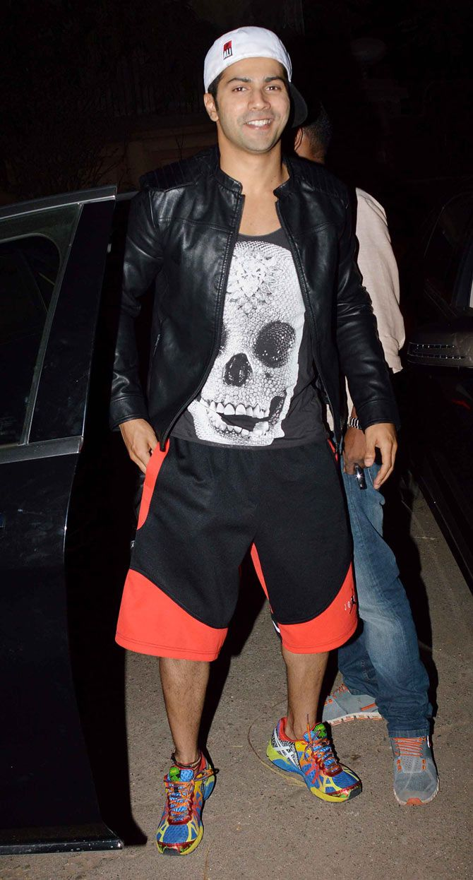Varun Dhawan at a screening of Bombay Velvet. #Bollywood #Fashion #Style #Handsome