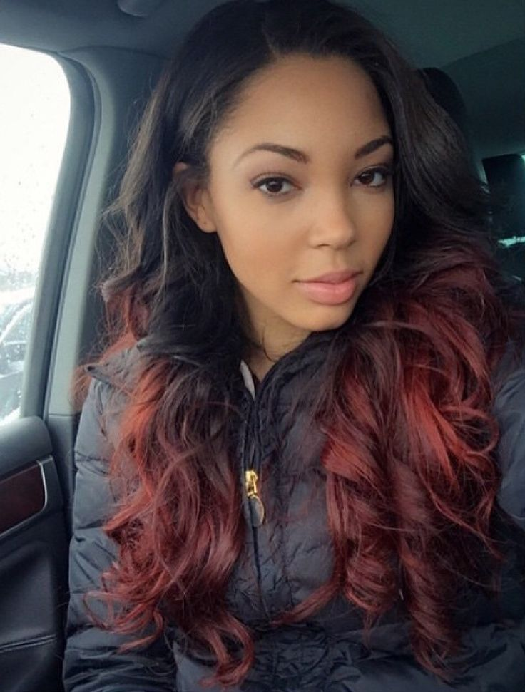 Ombre Hair Extensions Brazilian Remy Hair Body Wave T1B/Burgundy