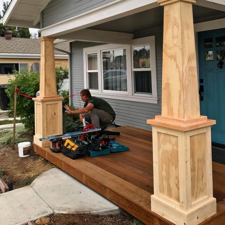 16 Amazing Small Front Porch Ideas To Make Guests Feel Welcome Modern Design In 2020 Mobile Home Porch House With Porch Craftsman Porch