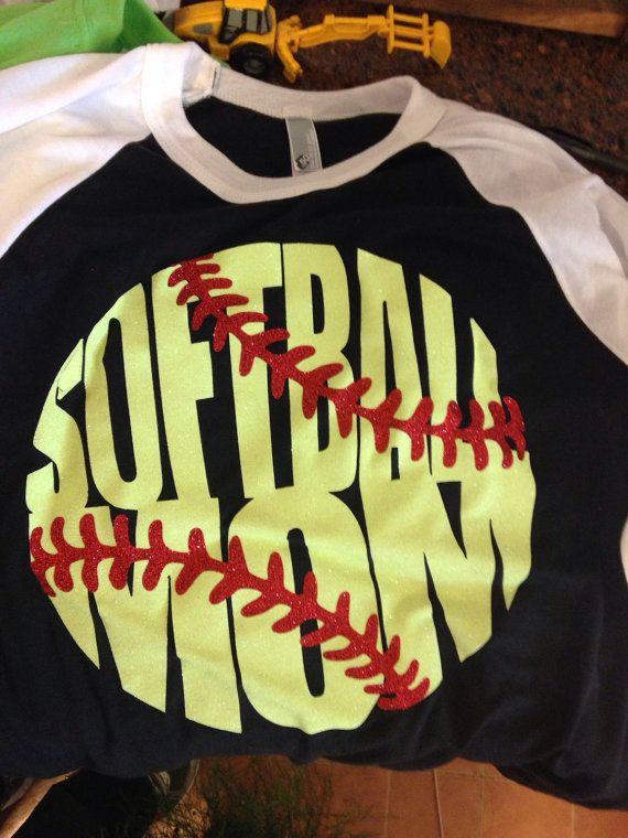 Softball Mom Raglan T-shirt