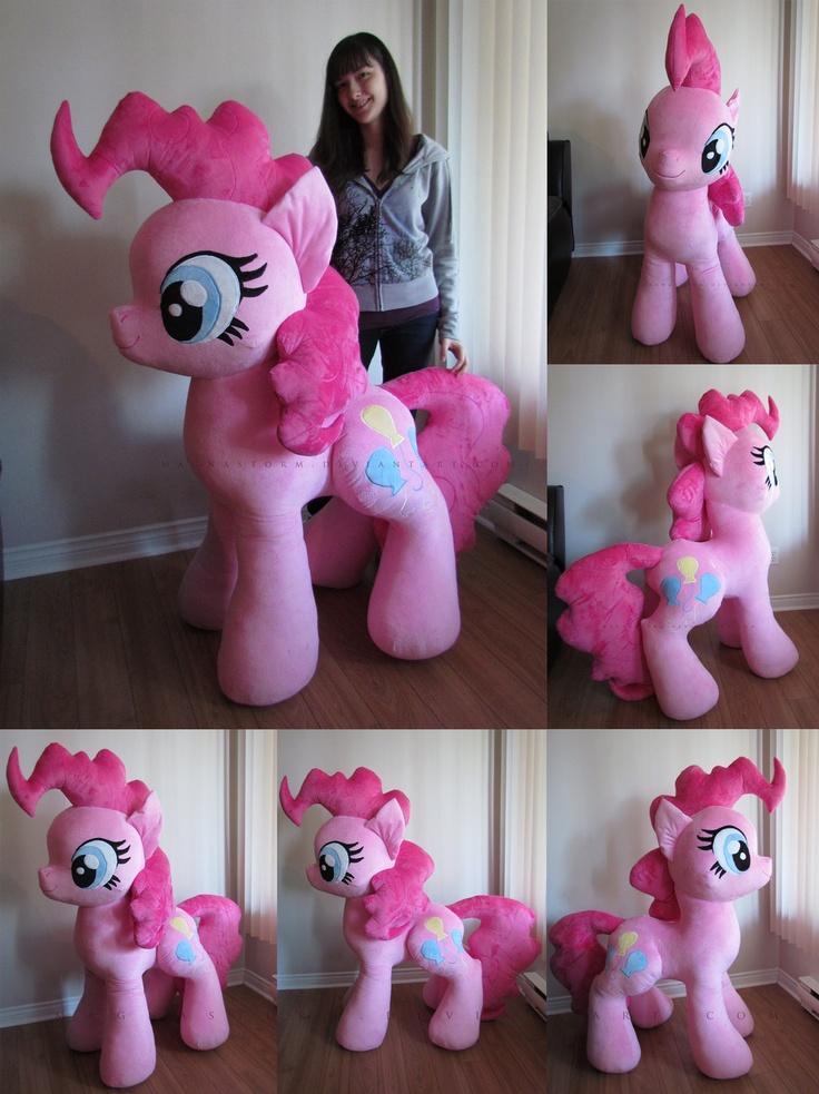 Giant Pinkie completed by MagnaStorm.deviantart.com on @deviantART  #pinkiepie #mylittlepony #plushie