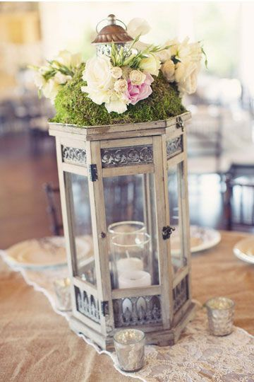 rustic chic wedding table centerpieces ideas