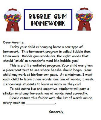 Parent involvement in homework
