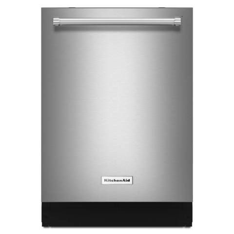 Shop KitchenAid 39-Decibel Built-in Dishwasher (Stainless Steel) (Common: 24-in; Actual: 23.875-in) ENERGY STAR at Lowes.com