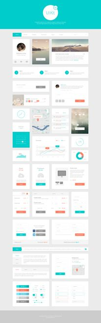 Alpha UI Kit - Web Elements - 1 — Designspiration