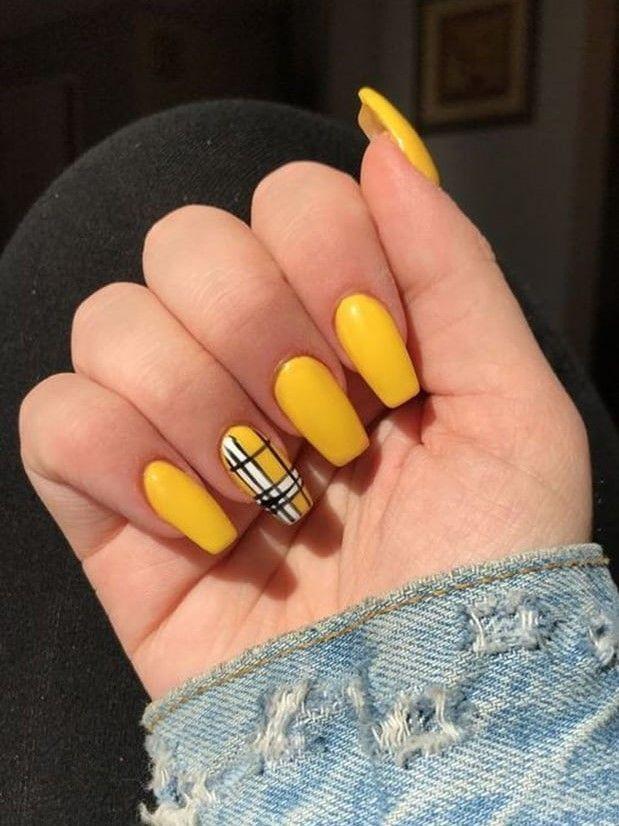 Nail Art 50 Beautiful Yellow Style Nail Art For Manicure Ideas In 2020 Yellow Nails Design Yellow Nails Yellow Nail Art