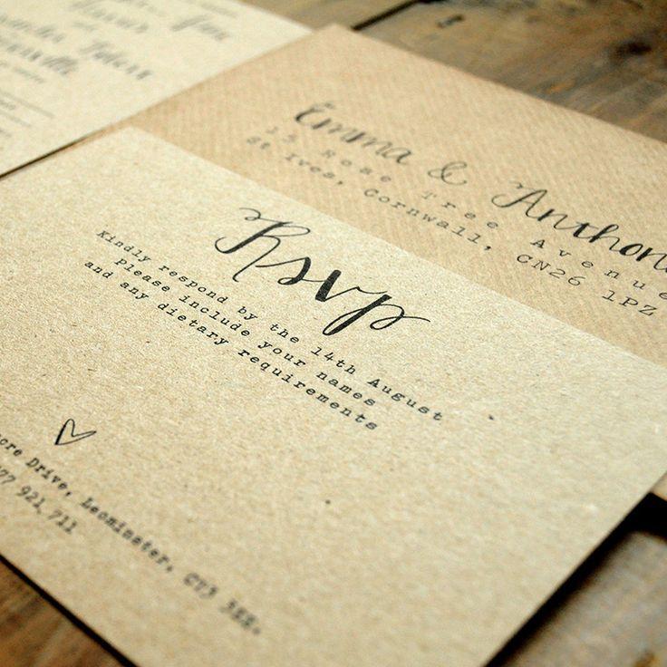 matter for wedding invitation in gujarati%0A Calligraphy Kraft Wedding Invitation  Feel Good Wedding Invitations