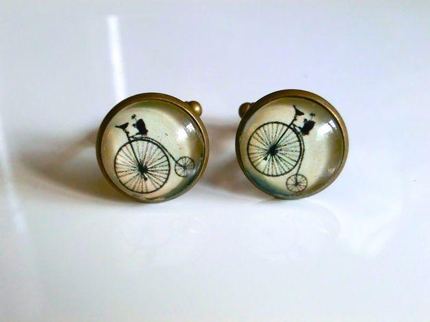 Manschettenknöpfe - Vintage Fahrrad Manschettenknöpfe - ein Designerstück von Kompassart bei DaWanda