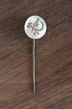 Ancienne épingle à cravate faucille marteau et épis de blé - Nacrée - Urss
