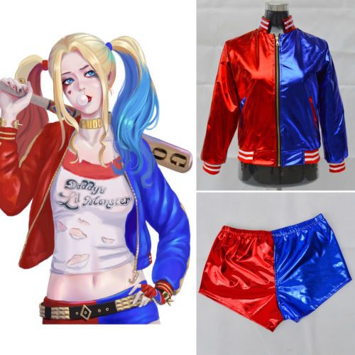 2016 batman suicide squad harley #quinn coat #jacket costume #cosplay fancy dress,  View more on the LINK: 	http://www.zeppy.io/product/gb/2/222387226852/