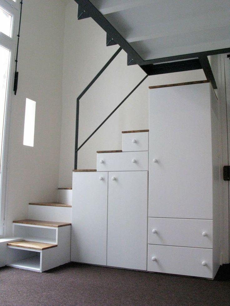 Les 25 meilleures id es de la cat gorie echelle mezzanine for Escalier escamotable mezzanine