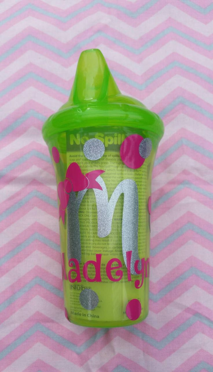 Personalized Sippy Cup by SherrisCreations124 on Etsy https://www.etsy.com/listing/248055875/personalized-sippy-cup
