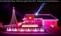 Best of Star Wars Music Christmas Lights Show 2014 – Featured on Great Christmas Light Fight!