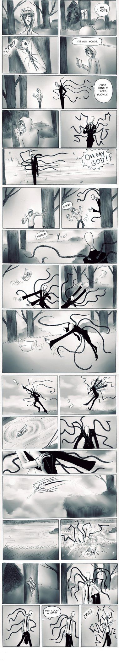 Hey, look! A note! by Paradoxoid on deviantART THIS IS EXACTLY WHAT IVE BEEN TALKING ABOUT, SLENDER HATERS!