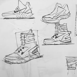 Just keep sketching... ✏️ Siempre sigue bocetando... #sneaker #sneakerhead #kicks #kickstagram #kicksofire #boots #sketch #sketching #draw #drawing #dibujo #boceto #blackandwhite #botas #urban #fashion #moda #urbana #footwear #calzado #zapatillas #trainers #tenis