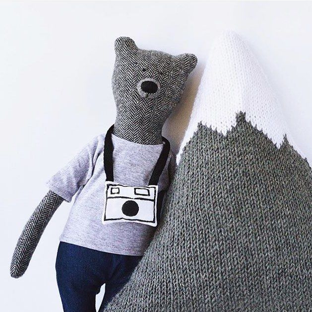 """Cutest adventure bears by @philomena_kloss: """"We like to create beautiful and unusual toys that are conventionally made for children but our bears are special. The Bears by Philomena Kloss are made to become your friends which you can take with you on a journey take pictures with them and indulge in every way!"""" #makersmovement #wearethemakers by makersmovement"""