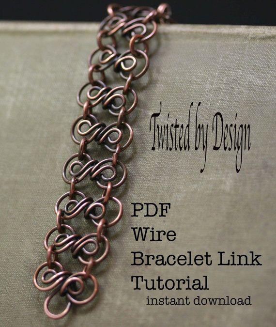 PDF Tutorial Wire Links,Links Tutorials,3 wire links tutorial,Jewelry Tutorial,Wire Link Tutorial,Findings Tutorial,Bracelet Tutorial(#1724)