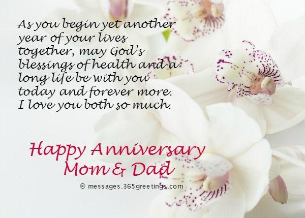 Anniversary Wedding Parents Heaven Happy