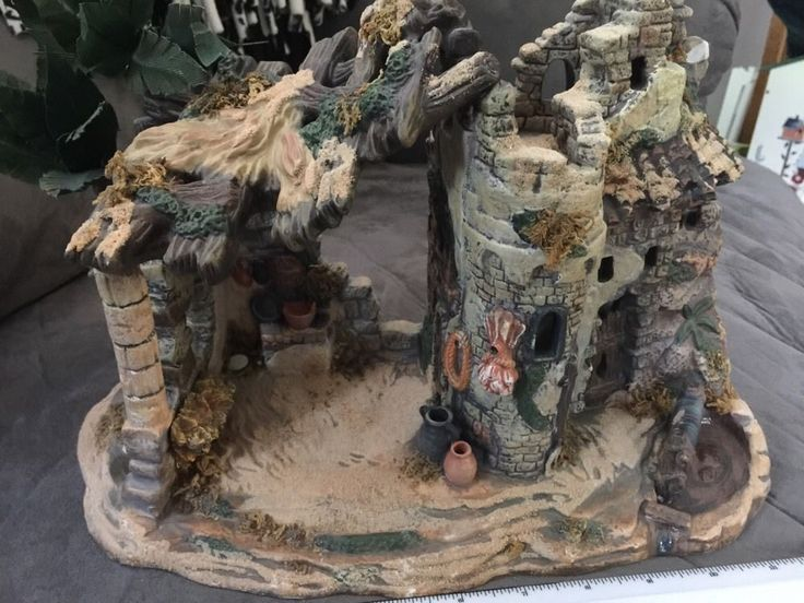 Decorative Hand painted Nativity Village Stable
