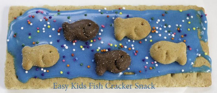 Easy Kids Fish Snacks - Great for an ocean or water theme for school! - My Little Me