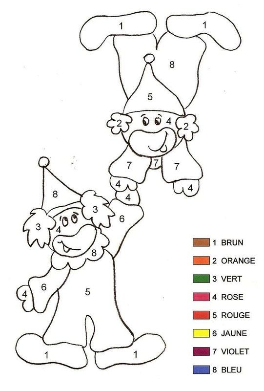 267 best coloriage magique images on pinterest color by numbers kindergarten and coloring pages - Coloriage magique cirque ...