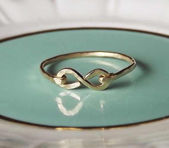 Hammered Gold Filled or Sterling Infinity by BellatrinaJewelry, $20.00