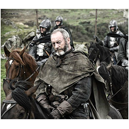 Game of Thrones Liam Cunningham as Davos Seaworth on Horse 8 x 10 inch photo