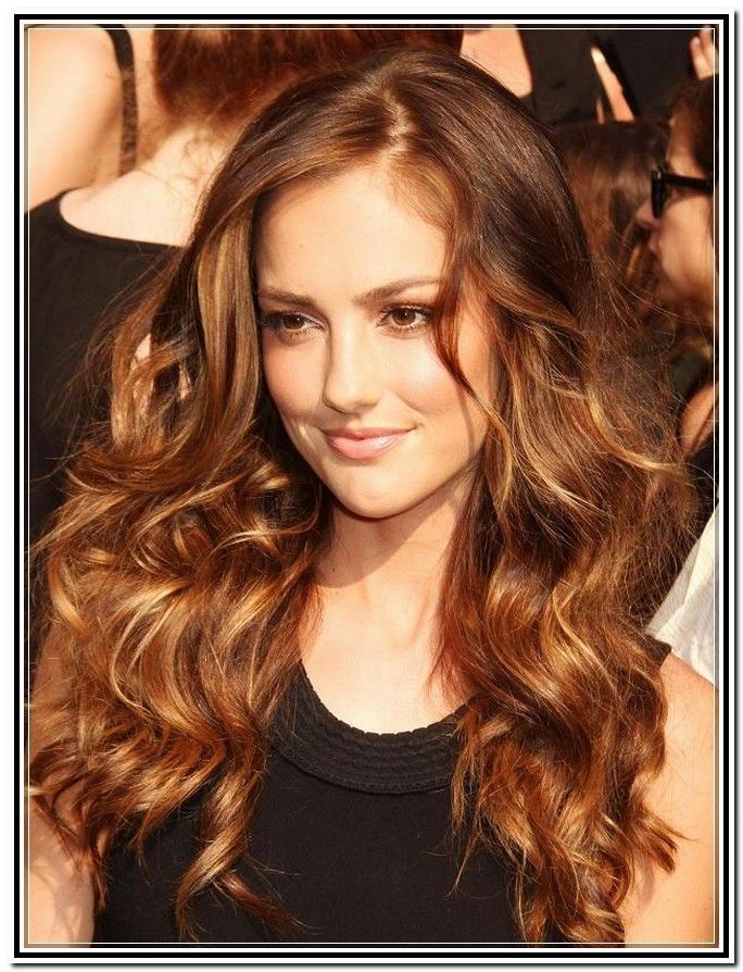 Light Chocolate Brown Hair Color With Caramel Highlights