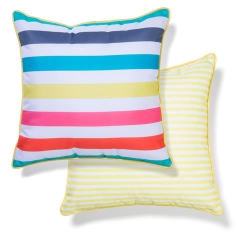 Outdoor Chair Cushion - Bright Stripes | Kmart